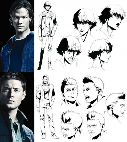 Sam e Dean versão anime.
